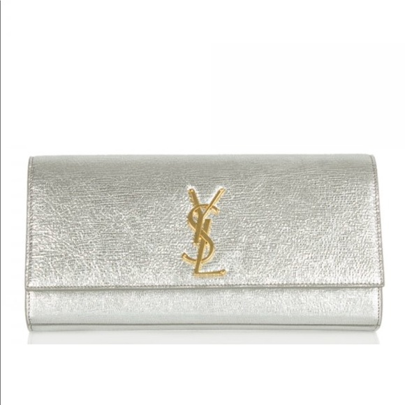 46f0de7ddefe Saint Laurent Silver Metallic Cassandre Clutch Bag.  M_5b578ccdd8a2c7159c0afdc4